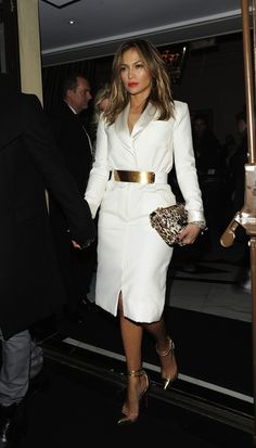 Jennifer Lopez seen with her boyfriend Casper Smart leaving the The Dorchester hotel in London