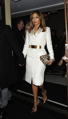 Jennifer Lopez seen with her boyfriend Casper Smart leaving the The Dorchester hotel in London