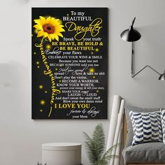 Sunflower Canvas, I Love You Forever, Room Posters, Smile Because, The Victim, All Poster, Family Gifts, Canvas Frame, Buy Canvas