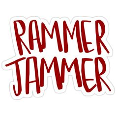 """""""Rammer Jammer"""" Stickers by shelbiefran Crimson Tide Football, Alabama Football, Alabama Crimson Tide, Roll Tide Meaning, Alabama Wallpaper, Bubble Stickers, University Of Alabama, Grey Anatomy Quotes, Aesthetic Stickers"""