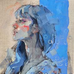 Cafe Inevitable (Search results for: izumi kogahara) Art Inspo, Painting Inspiration, Contemporary Art Artists, Modern Art, Painting People, Figure Painting, L'art Du Portrait, Portrait Acrylic, Acrylic Artwork