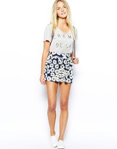 Daisy Printed Culotte Shorts