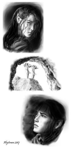 Forgotten - Turin and Nellas by SaMo-art on DeviantArt Under The Shadow, Jrr Tolkien, Tolkien Books, Swag, Deviantart, Middle Earth, Lord Of The Rings, Lotr, The Hobbit