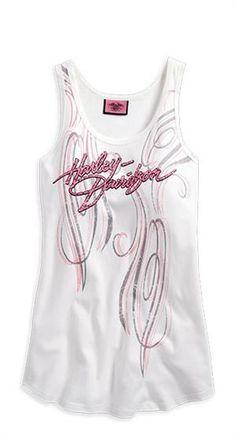 Harley-Davidson® Women's Pink Label Rhinestone Embellished Tank 96227-14VW
