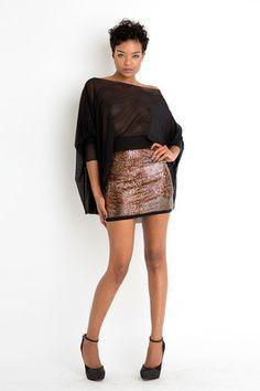 Metallic skirt style