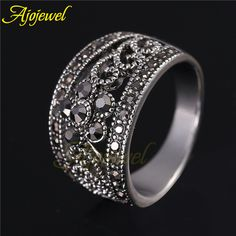 Like and Share if you want this  Ajojewel Hot Sale Vintage Antique Jewelry Silver Plated Cute Black CZ Flower Retro Ring Women     Tag a friend who would love this!     FREE Shipping Worldwide     Get it here ---> http://jewelry-steals.com/products/ajojewel-hot-sale-vintage-antique-jewelry-silver-plated-cute-black-cz-flower-retro-ring-women/    #necklaces