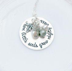 Hand Stamped Jewelry  Teacher Necklace  by 3LittlePixiesShoppe #teachergift #teacherappreciation #fromlittleseedsgrowmightytrees #inspirational #motivational