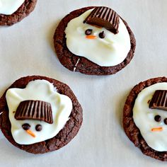Love these melting snowmen cookies!