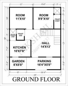 Indian house design, small house design, house plan with elevation, Nikshail House Design 2bhk House Plan, 3d House Plans, Indian House Plans, Simple House Plans, Model House Plan, House Layout Plans, Bedroom House Plans, House Layouts, Drawing House Plans