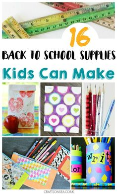 With cute diy notebooks, binders and pencil holders as well as loads more these diy school supplies willget your kids excited for back to school! Diy Back To School Supplies, School Supplies List Elementary, School Supplies For Teachers, School Supplies Highschool, School Supplies Organization, College School, School Tips, Kindergarten Teachers, School Classroom