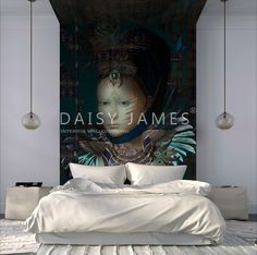 DAISY JAMES #Wallcovering #bedroom #interiordesign.