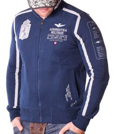 Aeronautica Militare Supporto Forze Navy Zip Hoodie Color: navy 2 side pockets Supporto Forz embroidery on the left side of chest Logo Aeronautica embroidery. Zip Hoodie, Sweatshirt, Colorful Hoodies, Motorcycle Jacket, Athletic, Navy, Designer Clothing, Jackets, Clothes