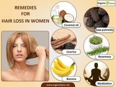 Hair loss in women is caused by emotional stress, pregnancy, anemia, & more. Treatments for hair loss in women include the use of aloe vera, minoxidil, & corticosteroids. #hairlosshomeremedies