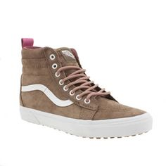 Vans Tan Sk8-hi Mte Womens Trainers No need to ditch your Vans for the colder months as the Sk8-Hi MTE arrives with weatherised design updates. The Scotchgard-treated tan suede upper is ready to take on the elements, sitting on a snow b http://www.MightGet.com/january-2017-13/vans-tan-sk8-hi-mte-womens-trainers.asp