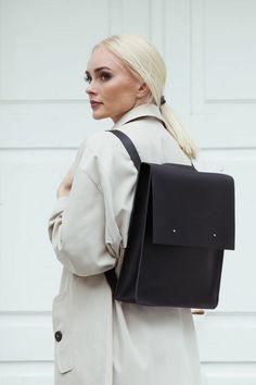 sac à dos cuir femme style cartable grande tendance look bureau formel et élégant