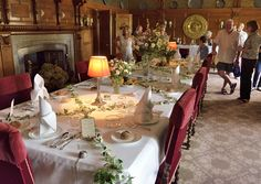 Dining Room in Lanhydrock House, Cornwall
