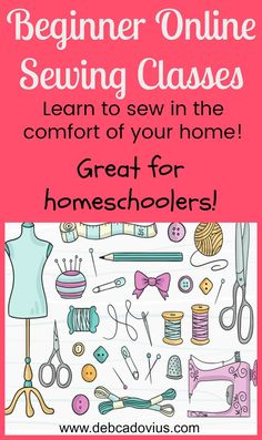 SEWING CLASSES perfect for beginners -- taught by me online!