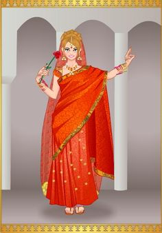 Princesa Karla en traje Indu