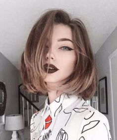 Best way to change your style is dying your hair to trending hair colors. It is wise to opt with a new hair color for a new year because everyone want to look. 2015 Hairstyles, Cute Hairstyles For Short Hair, Cool Haircuts, Trendy Hairstyles, Short Hair Cuts, Straight Hairstyles, Short Hair Styles, Bob Styles, Beautiful Hairstyles