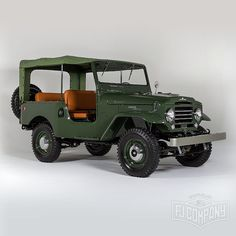 amazing 1960 Toyota LandCruiser FJ25 Army Green. Hi-Res pictures available at www.fj.co.