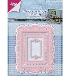 Joy!Crafts mallen 6002/0659 Mery,s rechthoek Sierl