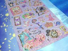 Sleeping Beauty sticker fairy tale princess story sticker little princess castle sword seal sticker Princess party theme Series label gift