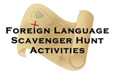 Language Vocabulary and Verb Form Scavenger Hunt Foreign (World) Language Vocabulary and Verb Scavenger Hunt. (French, Spanish) www.Foreign (World) Language Vocabulary and Verb Scavenger Hunt. (French, Spanish) www. Spanish Vocabulary, Vocabulary Activities, Teaching Activities, Listening Activities, Indoor Activities, Summer Activities, Family Activities, French Lessons, Spanish Lessons