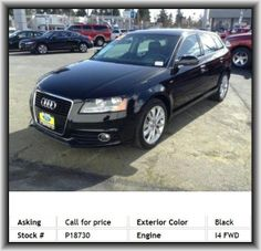 2012 Audi A3 2.0 TDI Premium Wagon   Gross Vehicle Weight: 4, Radio Data System, Strut Front Suspension, Side Airbag, Tires: Speed Rating: H, Passenger Airbag, Rear Area Cargo Cover: Rigid, Engine Immobilizer, Curb Weight: 3, Sirius Satellite Radio(Tm), Power Remote Passenger Mirror Adjustment, Total Number Of Speakers: 10, Tilt And Telescopic Steering Wheel, Tires: Width: 225 Mm, Four-Wheel Independent Suspension, Rear Seats Center Armrest, Suspension Class: Regular