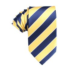 Yellow and Navy Blue Striped Tie | Neckties | Australian Designer Ties $35 | Australia | OTAA