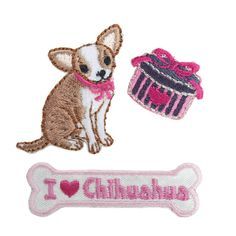 Chihuahua Iron On Patches