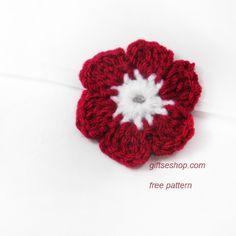 Free Crochet Flower Pattern Six Petals