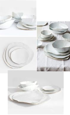 Molosco Dinner Set by Laura Letinsky- love these (but need cheaper version...no need for real gold trim)