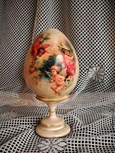 """Яйца ручной работы. Ярмарка Мастеров - ручная работа яйцо интерьерное """"Феи"""". Handmade."""
