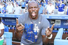 Brooklyn Nine-Nine actor Terry Crews helped send the LA Dodgers into the playoffs on September 28th. With his help in the cheering section, the Dodgers won the game and are headed into the post-season. Good luck, guys!