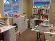 Craft room for scrapbooking