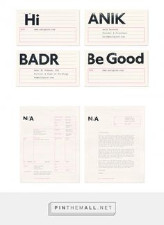N/A identity and website - Fonts In Use... - a grouped images picture - Pin Them All