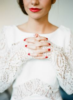 red lips and nails | Photography by Greg Finck
