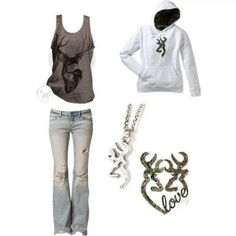 Minus all the browning stuff. Just the jeans & tank