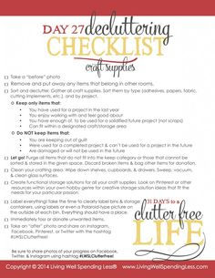 '31 Days to a Clutter Free Life: Craft Supplies (Day 27)...!' (via Living Well Spending Less®)