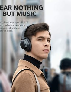 Anker Soundcore Life Q20 Hybrid Active Noise Cancelling Headphones, Wireless Over Ear Bluetooth Headphones, 40H Playtime, Hi-Res Audio, Deep Bass, Memory Foam Ear Cups, for Travel, Home Office Noise Cancelling Headphones, Bluetooth Headphones, Over Ear Headphones, Your Music, Music Is Life, Amazon Gadgets, Audio, Cool Technology, Songs