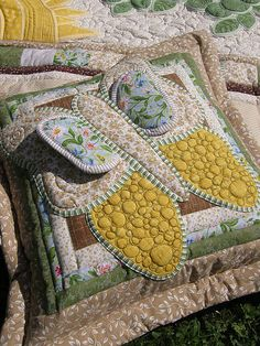 Wildflowers No.2 - pillow butterfly - yellow by Kajura on Etsy