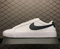Nike SB Zoom Blazer Low White Obsidian 864347-141 On Sale 377a0a518