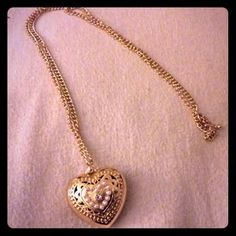 I just discovered this while shopping on Poshmark: gold heart necklace. Check it out!  Size: OS