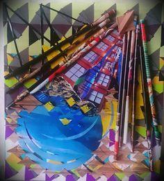 Art-collage. Blue planet.