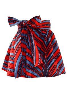 african print dresses Skirts - Abina African Print Full Skirt For Little Girls (Red/Grey) Baby African Clothes, African Dresses For Kids, African Inspired Fashion, Latest African Fashion Dresses, African Print Fashion, African Wear, African Attire, African Print Skirt, African Print Clothing