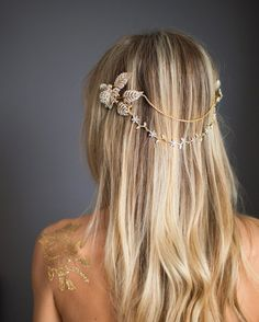 grecian wedding hair chain | via http://emmalinebride.com/bride/bridal-hair-chain/