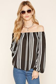 Contemporary Striped Blouse | Forever 21 - 2000237280