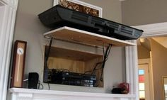 A secret compartment to hide all your stereo components