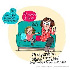 { ON NE PEUT COMPTER SUR PERSONNE }  ... pas même sur la chair de sa chair !  Belle journée ❤🤘  #remix #mathou #illustration #humour #enfants