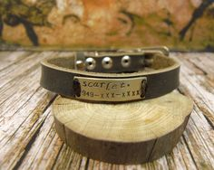 Personalized Cat Collar, Cat Collar Personalized, Cat Collar, Dog Collar Personalized, Small Dog Collar, Dog Collar Name Plate, Gray collar by VacForPets on Etsy